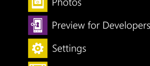 Developer Preview App
